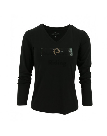 EQUITHÈME T-shirt with Sequins - Ladies Large